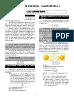 Lista de Reforço - Calorimetris 1