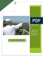 Informe de Gestion Administracion Departamental