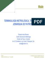 Terminología metrológica