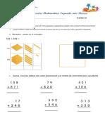 Prueba 2 Educación Matemática Segundo Básico Primer Semestre