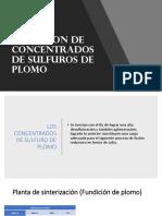 Tostacion de Concentrados de Sulfuros de Plomo