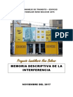 Modelo de memoria descriptiva interferencia de via 2017 BREÑA