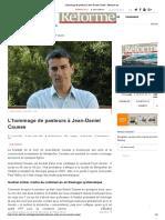 L'hommage de pasteurs à Jean-Daniel Causse - Reforme.net