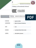 Informe Metodo de Explotacion Subterranea