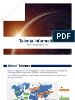 Talenta Services Information