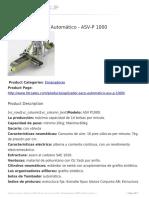 Aplicador de Saco Automático ASV P 1000