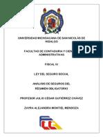 Análisis de La Ley Del Seguro Social_regimen Obligatorio