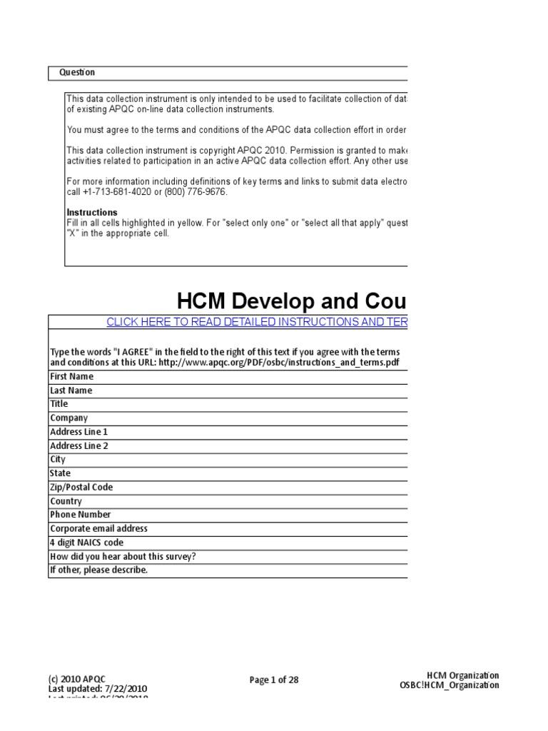 HCM Develop and Counsel | Market Segmentation | United