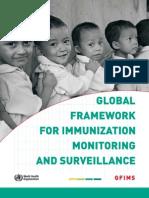 Global Framework for Immunization Monitoring and Surveillance-444