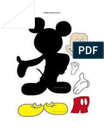 Molde Mickey Mouse