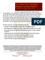 Community Awareness Bulletin