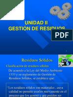 Unidad II Gestión de Residuos