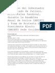Discurso Del Gobernador Del Estado de Jalisco, Aristóteles Sandoval, Durante La Asamblea Anual de Socios CANIETI y Toma de Protesta Del Presidente Electo CANIETI Sede Occidente.