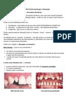 Aula de Anomalias Dentárias