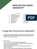 Pencemaran Air Oleh Unsur Radioaktif