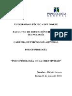 Acosta, G. - Psicofisiología de La Creatividad