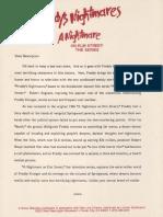 Freddys Nightmares Season 1 Press Kit