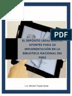 El Depósito Legal Digital, Apuntes para su Implementación en la Biblioteca Nacional del Perú.
