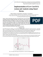 Design and Implementation of Low Cost ECG Monitoring System and Analysis using Smart Device