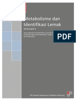 Makalah Metabolisme Dan Identifikasi Lemak