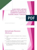 ANALISIS ESTRUCTURAL II Porticos Metodo Matricial de Rigideces
