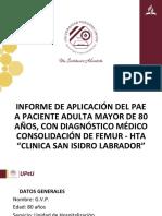 Paciente con diagnostico medico de consolidación de fémur
