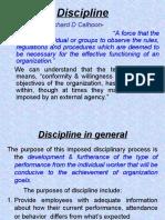 Discipline in General