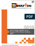 India Uninterruptable Power Supply (UPS) Market Outlook, 2023