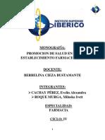 Promocion de Salud en Establecimiento Farmaceutico