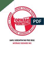 Forward Pricing Waterbase