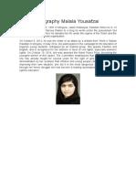 Biography Malala ROCIO