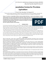 Crop Recommendation System for Precision Agriculture