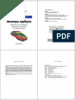 Mecanique Appliquee Resistance Des Materiaux, Mecanique Des Fluides, Thermodynamique - 1996