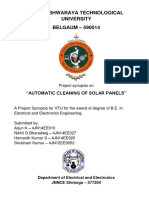 Synopsis of Automatic cleaning of solar panels