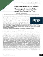 Comparative Study on Ceramic Waste Powder with Coir Fibre composite concrete Using Destructive and Non Destructive Tests