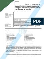 NBR NM 76 -(Método de Blaine).pdf