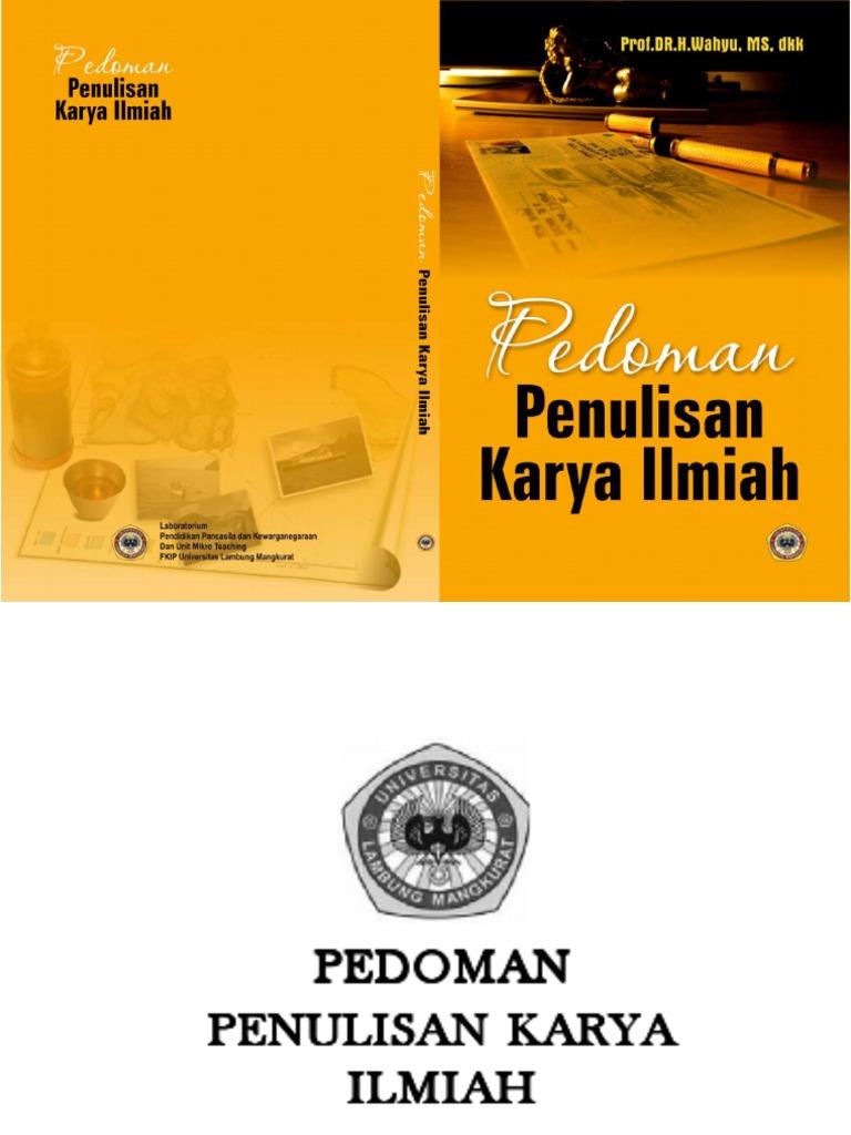 Ppki Pedoman Penulisan Karya Ilmiah Edisi 2017 Fakultas Teknik Um