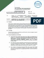 DBM Corp Budget Circular 22