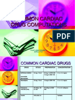 Common Cardiac Drug Computations