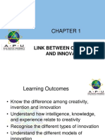 Cri Lecture 1 Link Between Creativity and Innovation