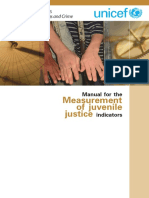 Manual for the Measurement of Juvenile Justice Indicators
