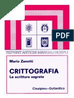 M.zanotti - Crittografia (Hoepli 1928)
