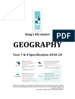 King's Ely Junior Geography Spec
