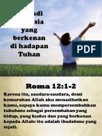 Menjadi Manusia Yang Berkenan Di Hadapan Tuhan