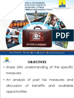 URA - Presentations for the Tax Amendments 2018-19