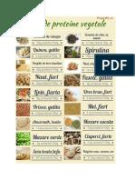 Surse de Proteine Vegetale