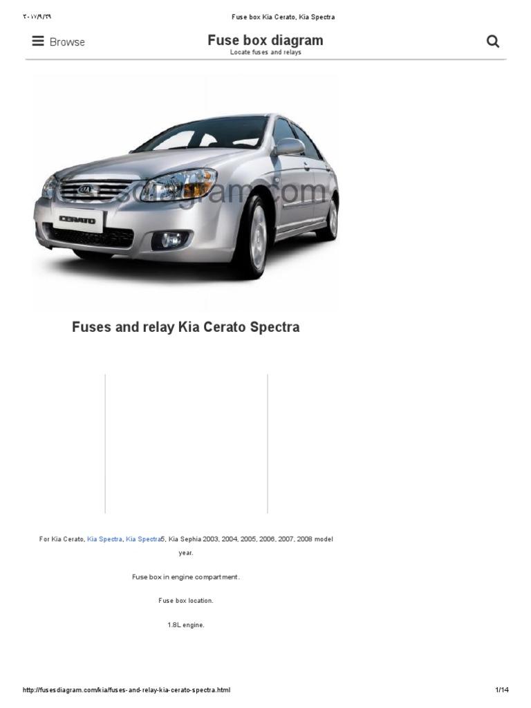 Kia Spectra Fuse Relay Block Circuit Diagram Symbols Box Cerato Pdf Rh Scribd Com Auxiliary Wiring