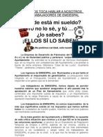 AHORA NOS TOCA HABLAR A NOSOTROS,  LOS TRABAJADORES DE EMDESPAL