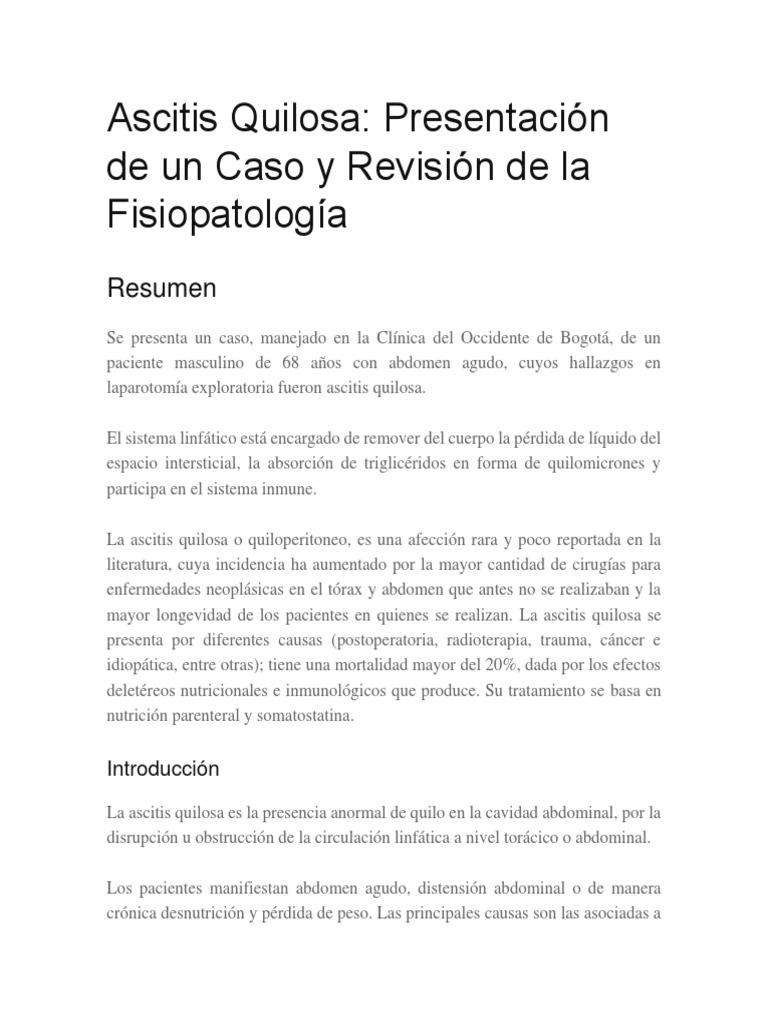Ascitis Quilosa