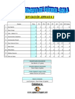 Jornada 3 X Campeonato de Fútbol Sala